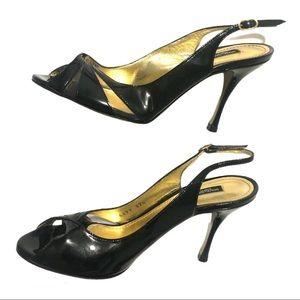 Dolce & Gabbana Patent Leather Slingback Black